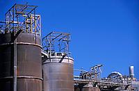 Bauxite refinery tanks, Gardanne France.