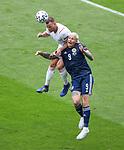 14.06.2021 Scotland v Czech Republic:  Lyndon Dykes and Tomas Kalas