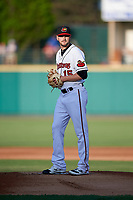 Rochester Red Wings starting pitcher Myles Jaye (15) gets ready to deliver a pitch during a game against the Pawtucket Red Sox on May 19, 2018 at Frontier Field in Rochester, New York.  Rochester defeated Pawtucket 2-1.  (Mike Janes/Four Seam Images)