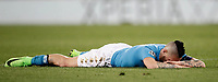 Football Soccer: UEFA Champions League Round of 16 second leg, Napoli-Real Madrid, San Paolo stadium, Naples, Italy, March 7, 2017. <br /> Napoli's Marek Hamsik reacts during the Champions League football soccer match between Napoli and Real Madrid at the San Paolo stadium, 7 March 2017. <br /> Real Madrid won 3-1 to reach the quarter-finals.<br /> UPDATE IMAGES PRESS/Isabella Bonotto