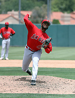 Galvi Agramonte - Los Angeles Angels 2019 extended spring training (Bill Mitchell)