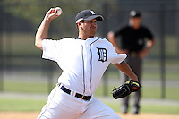 Detroit Tigers minor league pitcher Jordan Pratt vs. the Philadelphia Phillies during an Instructional League game at Tiger Town in Lakeland, Florida;  October 12, 2010.  Photo By Mike Janes/Four Seam Images
