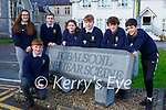 Pobalscoil Inbhear Scéine  students taking part in this years Young Scientist of the Year competition l-r: Shane Brennan and and Rachel O'Brien, Conor CAsey, Mairead O'Dwyer, Barry Fitzsimons, Jack Atlantic and Ollie Shea