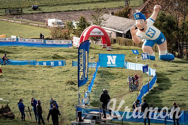 race leader trio racing on a crowdless course<br /> <br /> Koppenbergcross 2020 (BEL)<br /> women's race<br /> <br /> ©kramon