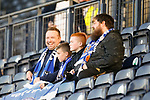 Happy Kilmarnock fans. Kilmarnock 2 Ayr United 0, Scottish Championship, August 2nd 2021. Following Kilmarnock's relegation in 2020-21, the first game of the new season is the Ayreshire Derby, the first league match between the teams in 28 years. Due to relaxation of Covid restrictions the match was played in front of a crowd of 3200 Kilmarnock fans. The game was shown live on BBC Scotland.