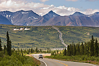 Trans Alaska Oil Pipeline along the Richardson Highway, Alaska.