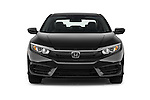 Car photography straight front view of a 2018 Honda Civic LX 4 Door Sedan Front View