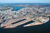 Hafencity bis zur Alster, historisch aus 2004: EUROPA, DEUTSCHLAND, HAMBURG, (EUROPE, GERMANY), 09.09.2004: Hafencity bis zur Alster, historisch aus 2004