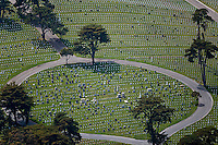 aerial photograph of the National Cemetery. Presidio, San Francisco, California