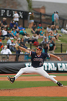 University of Virginia Cavaliers pitcher Bennett Sousa (11) on the mound during a game against the University of Coastal Carolina Chanticleers at Springs Brooks Stadium on February 21, 2016 in Conway, South Carolina. Coastal Carolina defeated Virginia 5-4. (Robert Gurganus/Four Seam Images)