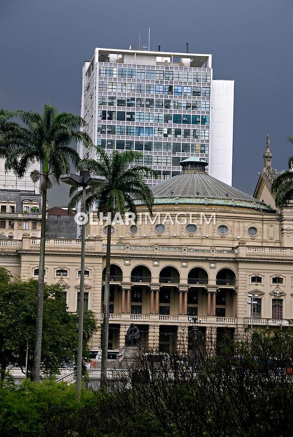 Fachada do Teatro Municipal. Centro histórico de São Paulo. 2008. Foto de Juca Martins.