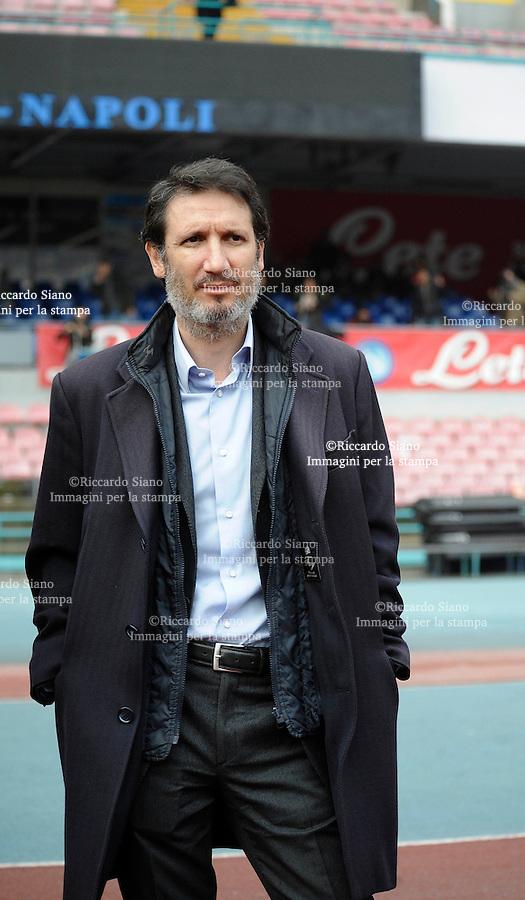 - NAPOLI 9 GENN  2014 -  Stadio San Paolo - Seduta di allenamento, a porte aperte, della squadra del Napoli Distinti pieni. Riccardo Bigon