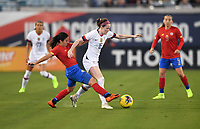 JACKSONVILLE, FL - NOVEMBER 10: Rose Lavelle #16 of the United States dribbles the ball during a game between Costa Rica and USWNT at TIAA Bank Field on November 10, 2019 in Jacksonville, Florida.