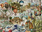 ,LANDSCAPES, LANDSCHAFTEN, PAISAJES, LornaFinchley, paintings+++++,USHCFIN0130,#L#, EVERYDAY ,vintage,stamps,puzzle,puzzles