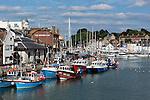 Great Britain, England, Dorset, Weymouth: The Old Harbour | Grossbritannien, England, Dorset, Weymouth: Kuestenstadt im Sueden Englands, der alte Hafen