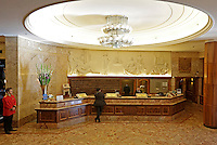 The lobby at  Grand Hotel Oslo, Norway.
