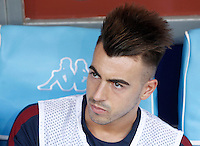 Calcio, Serie A: Napoli vs Roma. Napoli, stadio San Paolo, 15 ottobre. <br /> Roma's Stephan El Shaarawy waits for the start of the Italian Serie A football match between Napoli and Roma at Naples' San Paolo stadium, 15 October 2016. Roma won 3-1.<br /> UPDATE IMAGES PRESS/Isabella Bonotto