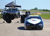 May 21, 2017; Topeka, KS, USA; NHRA pro stock driver Tanner Gray after winning the Heartland Nationals at Heartland Park Topeka. Mandatory Credit: Mark J. Rebilas-USA TODAY Sports