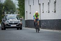 Nik Cemazar (SLO)<br /> <br /> 88th UCI Road World Championships 2021 – ITT (WC)<br /> Men's U23 Time trial from Knokke-Heist to Brugge (30.3km)<br /> <br /> ©Kramon