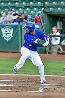 Keibert Ruiz (31) of the Ogden Raptors at bat against the Grand Junction Rockies in Pioneer League action at Lindquist Field on August 26, 2016 in Ogden, Utah. The Raptors defeated the Rockies 6-5. (Stephen Smith/Four Seam Images)