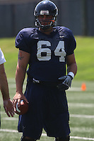 Virginia center Jack Shields during open spring practice for the Virginia Cavaliers football team August 7, 2009 at the University of Virginia in Charlottesville, VA. Photo/Andrew Shurtleff