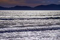 Kapiti Island from Paekakariki beach, New Zealand on Saturday, 23 May 2020.