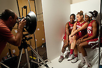 DENVER, CO--Media day at the Pepsi Center for the 2012 NCAA Women's Final Four in Denver, CO.