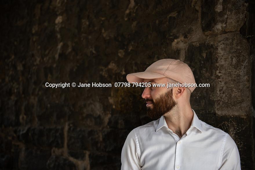 Edinburgh, UK. 28.07.2021. Michael Miller, portraits, Broughton Street, Edinburgh. Photograph © Jane Hobson.