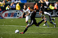 DC United's Christian Gomez scores a pk putting United in the lead. The LA Galaxy and DC United play to 2-2 draw at Home Depot Center stadium in Carson, California on Sunday March 22, 2009.