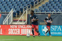 FOXBOROUGH, UNITED STATES - MAY 28: Meny Silva #36 of New England Revolution II looks to pass during a game between Fort Lauderdale CF and New England Revolution II at Gillette Stadium on May 28, 2021 in Foxborough, Massachusetts.