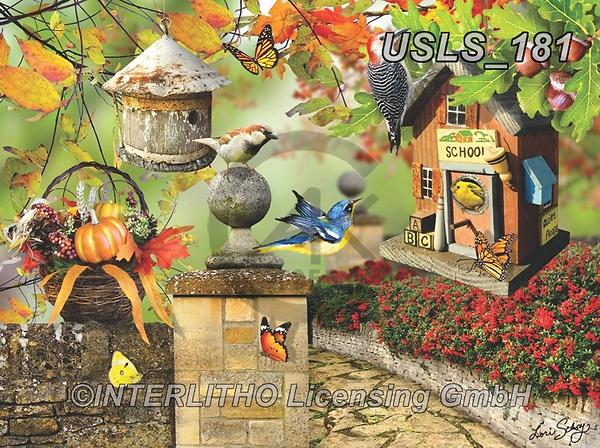 Lori, LANDSCAPES, LANDSCHAFTEN, PAISAJES, paintings+++++Fall Birdhouse_1_10 in_72,USLS181,#l#, EVERYDAY ,puzzle,puzzles