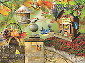 Lori, LANDSCAPES, LANDSCHAFTEN, PAISAJES, paintings+++++Fall Birdhouse_1_10 in_72,USLS181,#l#, EVERYDAY ,puzzle,puzzles