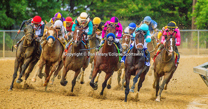 MAY 18, 2019 :War of Will, ridden by Tyler Gaffalione, wins the 144th running of the Preakness Stakes at Pimlico Racecourse, on May 18, 2019 in Baltimore, MD.  Dan Heary _ESW_CSM