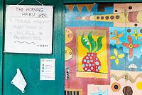 Art on Entrance to a House, Melaka, Malaysia.