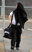 COPY BY TOM BEDFORD<br /> Pictured: Adam Isaac arrives at Merthyr Crown Court, Wales, UK. Friday 16 December 2016<br /> Re: A man who targeted two teenage boys on online computer game Minecraft and admitted eight child sex offences is due to be sentenced today at Merthyr Crown Court.<br /> Adam Isaac, 22, of Merthyr Tydfil , had previously appeared at Merthyr Tydfil Crown Court and entered his pleas.<br /> Isaac, of Cefn Coed, admitted two counts of causing or inciting child prostitution or pornography, one count of engaging in sexual activity in the presence of a child, and causing or inciting a child to engage in sexual activity - in relation to a teenage boy.