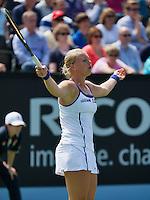 16-06-13, Netherlands, Rosmalen,  Autotron, Tennis, Topshelf Open 2013, First round,  Kiki Bertens in frustration<br /> <br /> Photo: Henk Koster