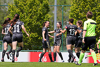 OHL players celebrate the goal of Lenie Onzia (8) of OHL during a female soccer game between Standard Femina de Liege and Oud Heverlee Leuven on the 10th and last matchday in play off 1 of the 2020 - 2021 season of Belgian Scooore Womens Super League , saturday 29 th of May 2021  in Angleur , Belgium . PHOTO SPORTPIX.BE   SPP   SEVIL OKTEM