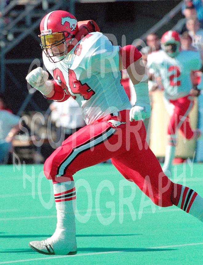 Eugene Belliveau Calgary Stampeders 1989. Photo Scott Grant