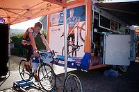 Yannick Peeters (BEL/Vastgoedservice-Golden Palace) warming up<br /> <br /> Koppenbergcross 2014