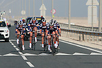 Champion System team in action during the 2nd Stage of the 2012 Tour of Qatar a team time trial at Lusail Circuit, Doha, Qatar, 6th February 2012 (Photo Eoin Clarke/Newsfile)