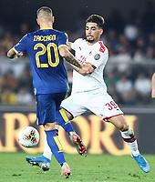 Mattia Zaccagni Hellas, Lucas Paqueta' Milan <br /> Verona 15/09/2019 Stadio Bentegodi <br /> Football Serie A 2019/2020 <br /> Hellas Verona - AC Milan <br /> Photo Image Sport / Insidefoto