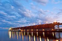 Evening snapshot of Marquette Upper Harbor iron ore loading dock.