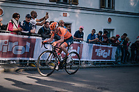 Anna van der Breggen (NED/Boels-Dolmans) on her way to gold (on the last climb of the day)<br /> <br /> WOMEN ELITE ROAD RACE<br /> Kufstein to Innsbruck: 156.2 km<br /> <br /> UCI 2018 Road World Championships<br /> Innsbruck - Tirol / Austria
