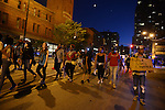 Black Lives Matter protesters marched through the South Loop in Chicago, Illinois on July 9, 2016.  Protests erupted nationwide following the police shootings of Alton Sterling who was selling bootleg DVDs outside a convenience store in Baton Rouge, Louisiana and Philando Castile during a routine traffic stop for a broken tail light in the St. Paul, Minneapolis suburb of Falcon Heights; on Thursday night, a lone gunman Micah Johnson fired and killed five police officers and injured several others during a Black Lives Matter protest in Dallas.