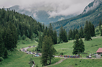 up the first climb<br /> <br /> Stage 5: Gstaad > Leukerbad (155km)<br /> 82nd Tour de Suisse 2018 (2.UWT)