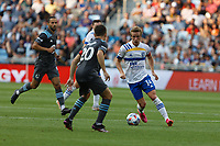 SAINT PAUL, MN - JULY 3: Jackson Yueill #14 of the San Jose Earthquakes during a game between San Jose Earthquakes and Minnesota United FC at Allianz Field on July 3, 2021 in Saint Paul, Minnesota.