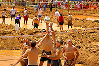 More than 100 teams (500+ players and countless spectators) for muddy for a mission at the 2011 Murphy's Dirty 30 Mud Volleyball Tournament, held at Charlotte NC's Metrolina Expo. The event was conceptualized by Tim Murphy, a Habitat for Humanity of Charlotte employee, in 2007 in the approaching days of his 30th birthday. Fundraising results were not yet available for the 2011 event, but the 2010 mud spectacular raised $15,000 for Habitat for Humanity.
