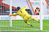 Asmir Begovic of AFC Bournemouth makes a great save off the post during AFC Bournemouth vs Reading, Sky Bet EFL Championship Football at the Vitality Stadium on 21st November 2020