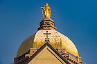January 30, 3017; Main Building on a winter morning (Photo by Matt Cashore/University of Notre Dame)