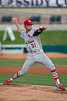 May 1 2010: Jared Bradford (31) of the Palm Beach Cardinals during a game vs. the Jupiter Hammerheads at Roger Dean Stadium in Jupiter, Florida. Palm Beach, the Florida State League High-A affiliate of the St. Louis Cardnials, won the game against Jupiter, affiliate of the Florida MArlins, by the score of 5-4  Photo By Scott Jontes/Four Seam Images